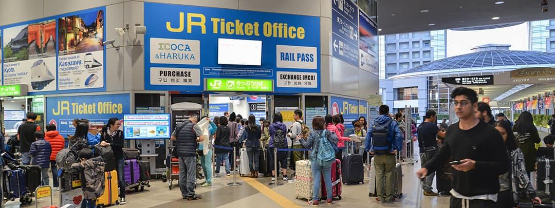 JR Ticket Office Inside Kansai Airport