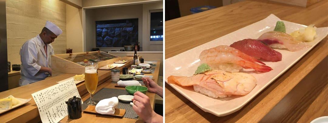 Sushi at Ninenzaka Nomoto