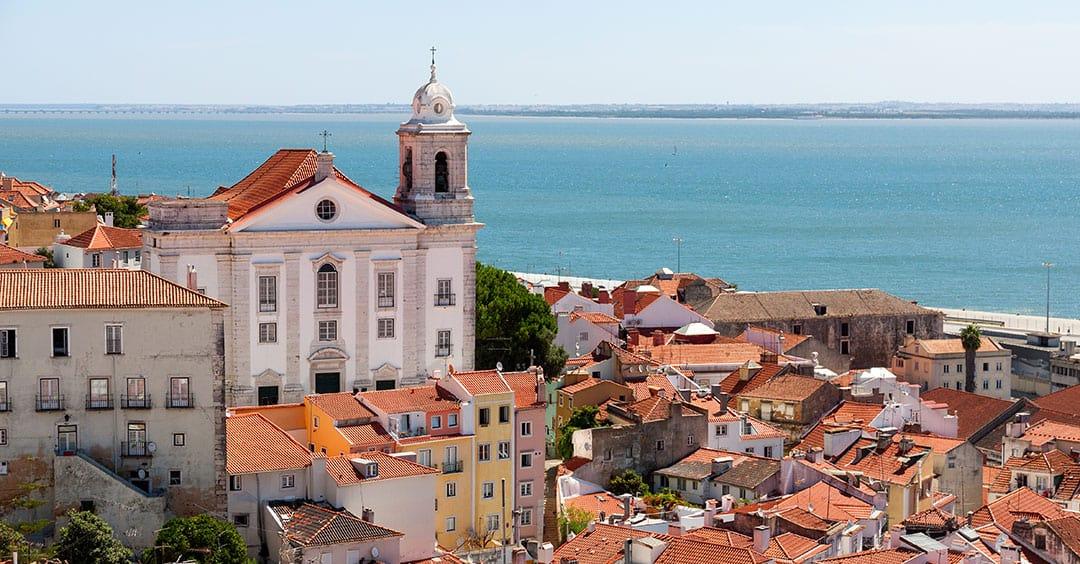 Alfama Lisbon Skyline